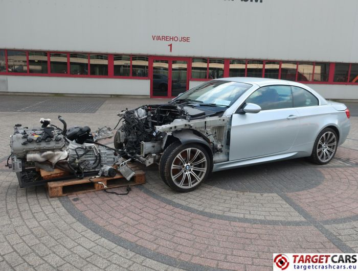 BMW M3 E93 CABRIO 4.0L V8 420HP M-DCT DRIVELOGIC 2011 SILVER 26741MIL RHD FOR PARTS ONLY
