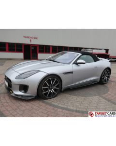 JAGUAR F-TYPE 3.0L V6 400 SPORT SUPERCHARGED CABRIO 08-17 46725KM SILVER LHD